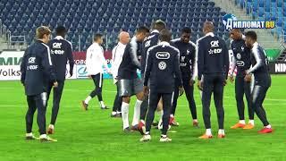 French Team training at the stadium Saint Petersburg