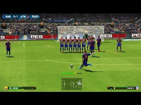 PES 2017 Demo PS4 Gameplay - FC Barcelona Vs Atlético de Madrid