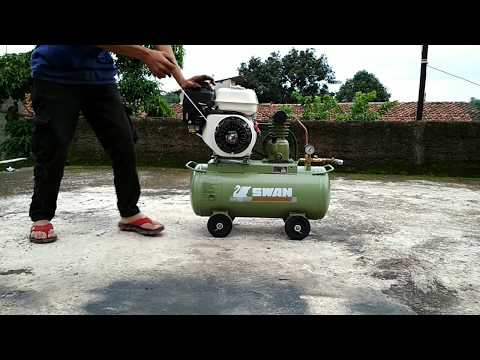 SWAN AIR COMPRESSOR 1/4 HP WITH GASOLINE ENGINE 5.5 HP