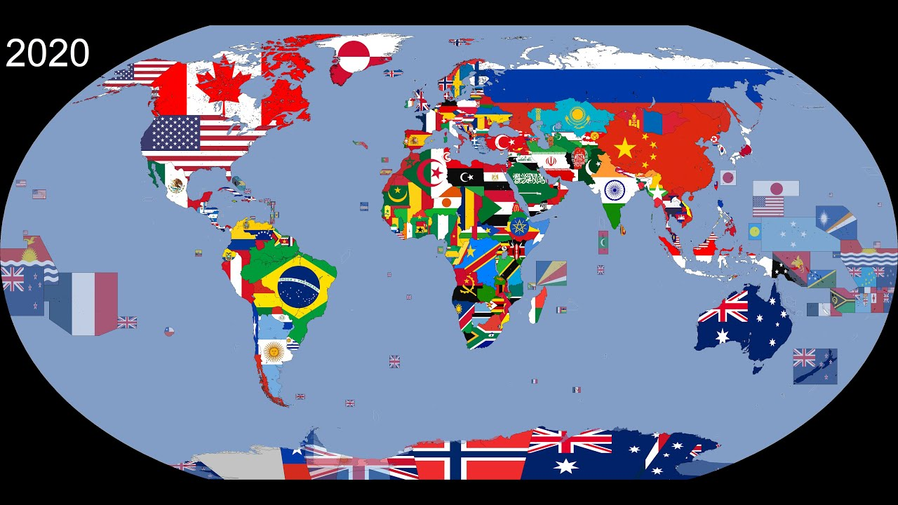 Download The World: Timeline of National Flags: 1019 - 2020
