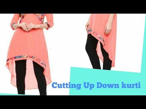 Latest Up Down Kurti Cutting | EASY METHOD