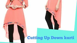 Latest Up Down Kurti Cutting | EASY METHOD