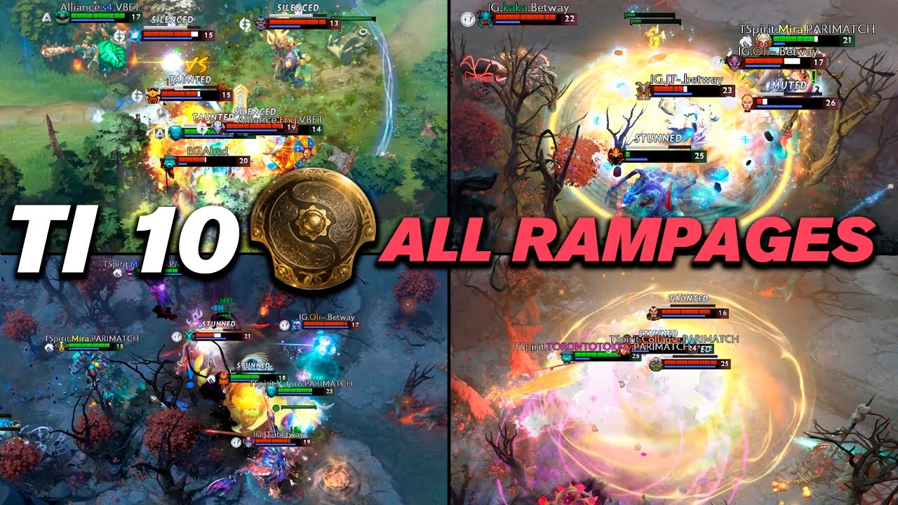 ALL RAMPAGES  The International 10 Dota 2 Highlights TV