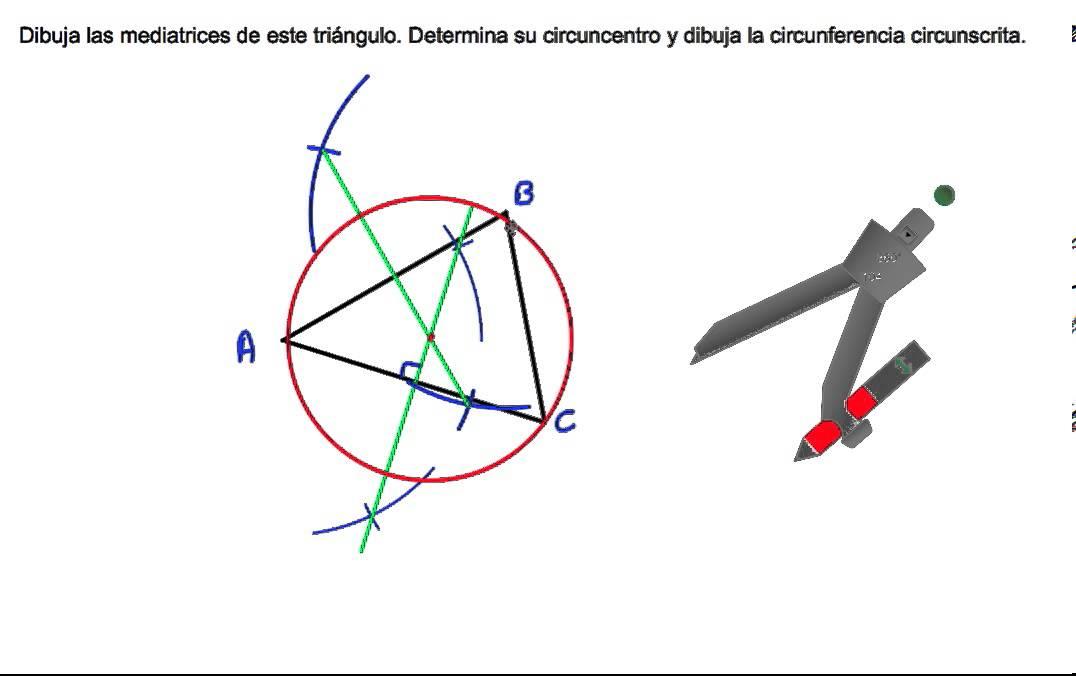 Mediatrices de un triángulo circuncentro y circunferencia