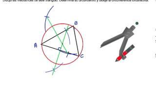 Mediatrices de un triángulo circuncentro y circunferencia circunscrita