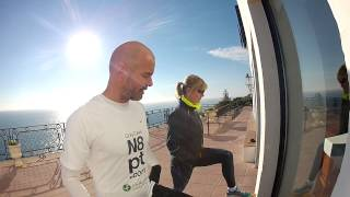 Chi Running Camp Costa Brava – drills at the lighthouse