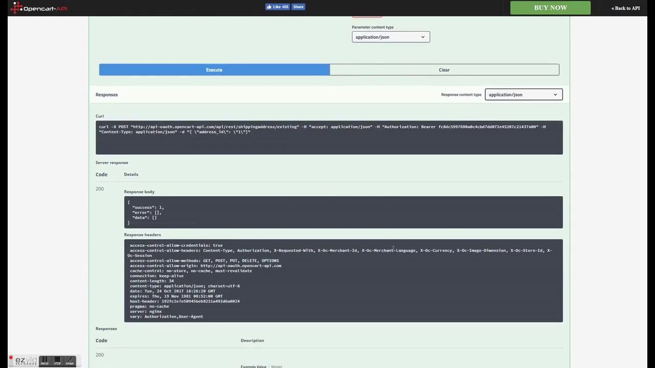 Opencart Shopping cart REST API OAuth version demo