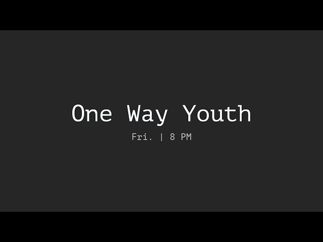 5/31/2019 Friday Youth Service