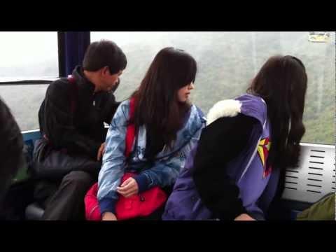 DCRJ, DJ & JHO riding NGONG PING 360 Cable Car - Jan. 3, 2012