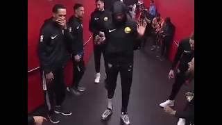 Kevin Durant dancing before the game, Looks Healthy... - NBA Finals Game 5 Raptors vs Warriors
