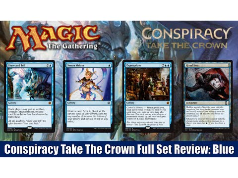MTG Conspiracy Take The Crown Full Set Review: Blue! Magic the Gathering!