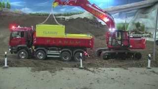 RC EXCAVATOR DAMITZ RH 6.6 UNLOADING DUMP TRUCK