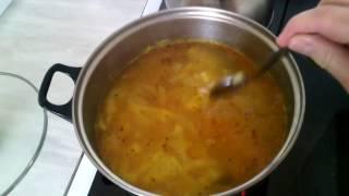 Russian vegetable soup -  shchi / Русский  суп  - щи