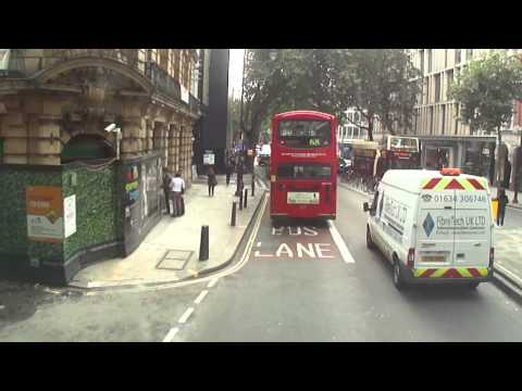 A number 59 bus ride from Kings Cross to Brixton Station, London - Thursday 28th August 2014