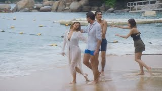 Pasado: Raquel y Damián disfrutan de vacaciones en familia | Caer en tentación Capitulo 46