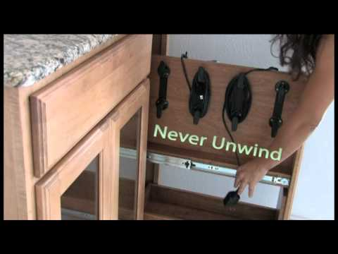 Vanity Valet Pullout - Store your blow dryer, flat iron, curling iron, inside your cabinet