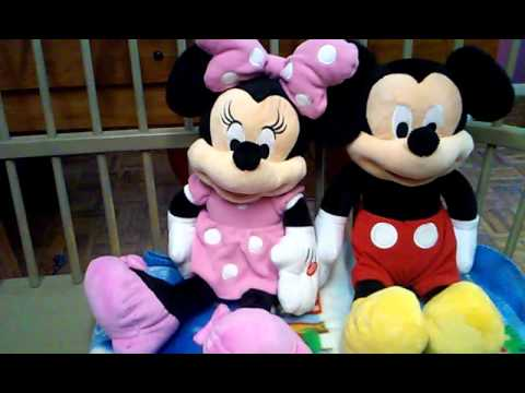 Minnie And Minnie Mouse Singing Plush Toys