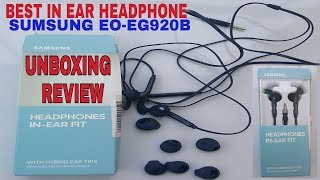 Unboxing And Review Of Samsung In-Ear Fit EQ-EG920B Hybrid Headphone