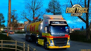 Euro Truck Simulator 2 (мультиплеер) - (Руль Logitech G-27)-  вечерние  покатушки  - 22.02.2020