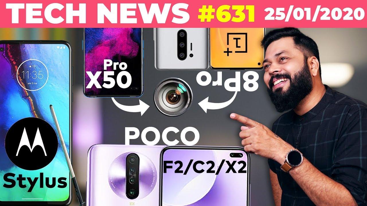 POCO F2 / C2 / X2 😆, caméra Realme X50 Pro, caméra OnePlus 8 Pro, téléphone moto avec stylet, montre OPPO - TTN # 631 + vidéo