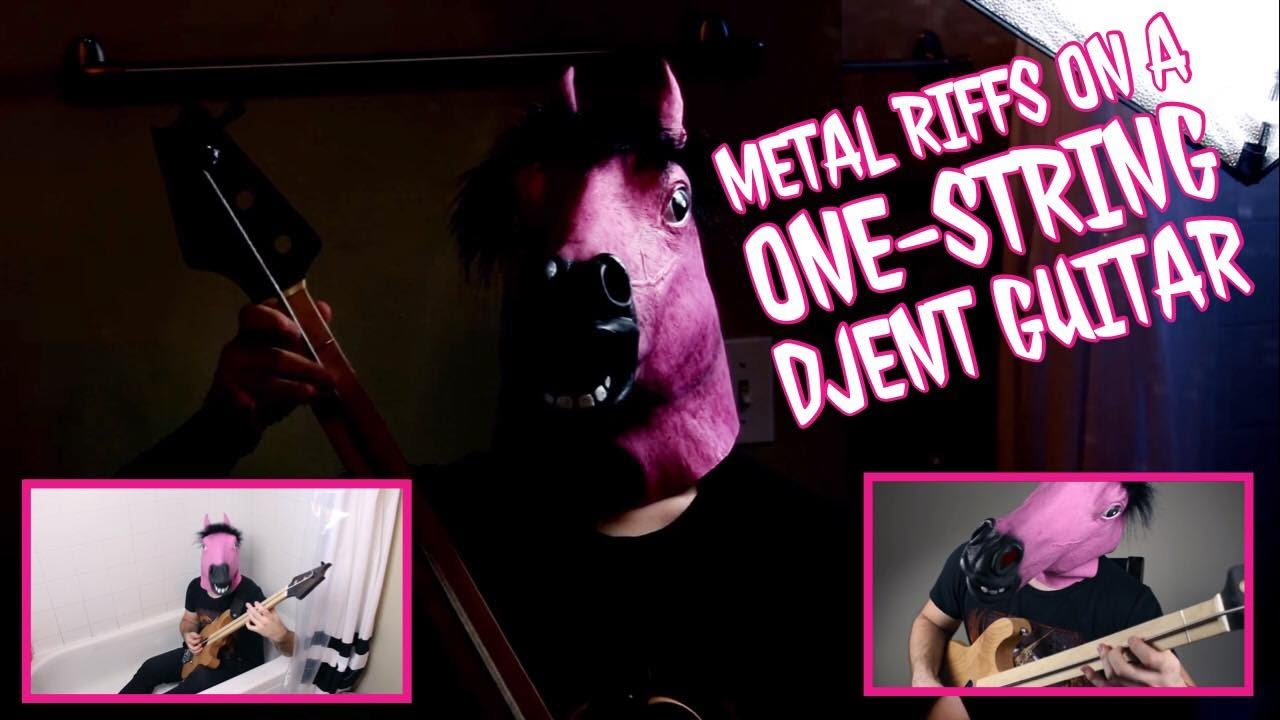 metal riffs on one string djent guitar youtube