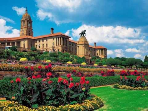 Pretoria, Gauteng , South Africa, Union Buildings, purple trees, Botanical gardens