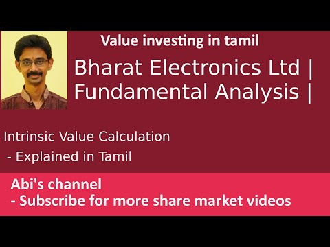 Bharat Electronics Limited | Fundamental Analysis| Intrinsic Value Calculation Explained In Tamil