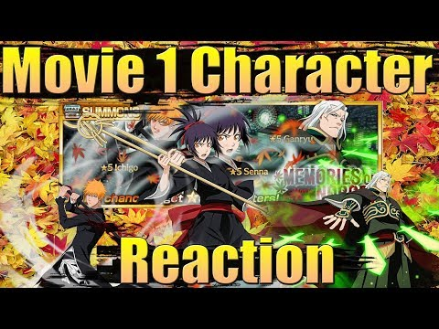 New Movie 1 Characters (Senna/Ichigo/Ganryu) Gameplay Reaction | Bleach Brave Souls