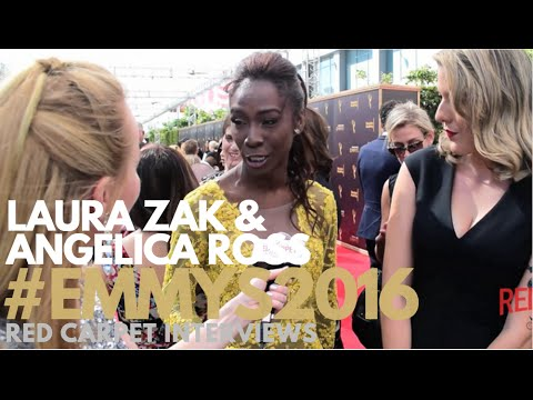 Laura Zak & Angeica Ross interviewed at the Creative Arts Emmy Awards Red Carpet Day 2 #Emmys