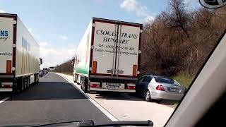 Trucks vs. Mercedes low IQ road rage
