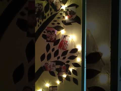 Wall Decoration With Black Chart Paper