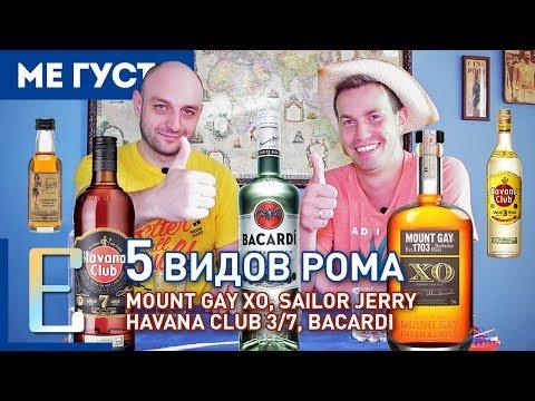 ДЕГУСТАЦИЯ РОМА №1 —Bacardi, Havana Club, Sailor Jerry, Mount Gay XO