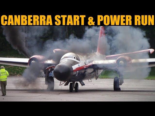 Canberra High Level Nuclear Bomber Start & Full Power Run | Bruntingthorpe 2019