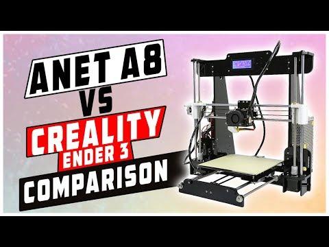 Anet A8 vs Creality Ender 3 Comparison