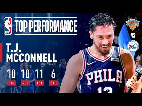 TJ McConnell Notches First Career Triple Double!