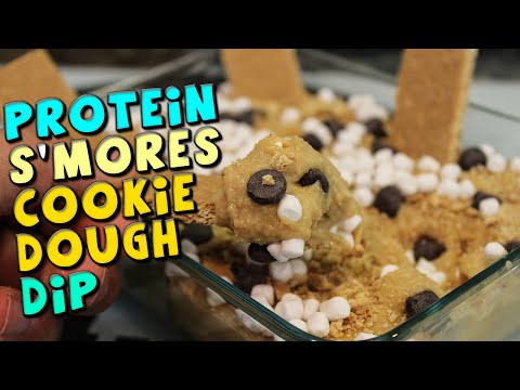 protein-s'mores-cookie-dough-dip-recipe