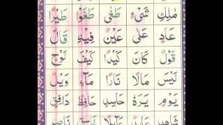 پشتونوراني قاعده 9 تختۍ 1 برخه  Noorani Qaida Lesson 9 section 1 Pashto