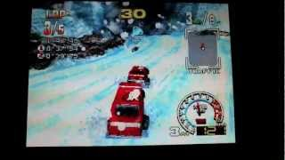 Burning Road gameplay on the PS1