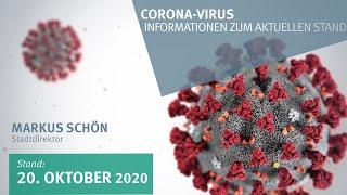 20. Oktober 2020: Corona-Virus - Informationen zum aktuellen Stand (vor 6 Tagen)
