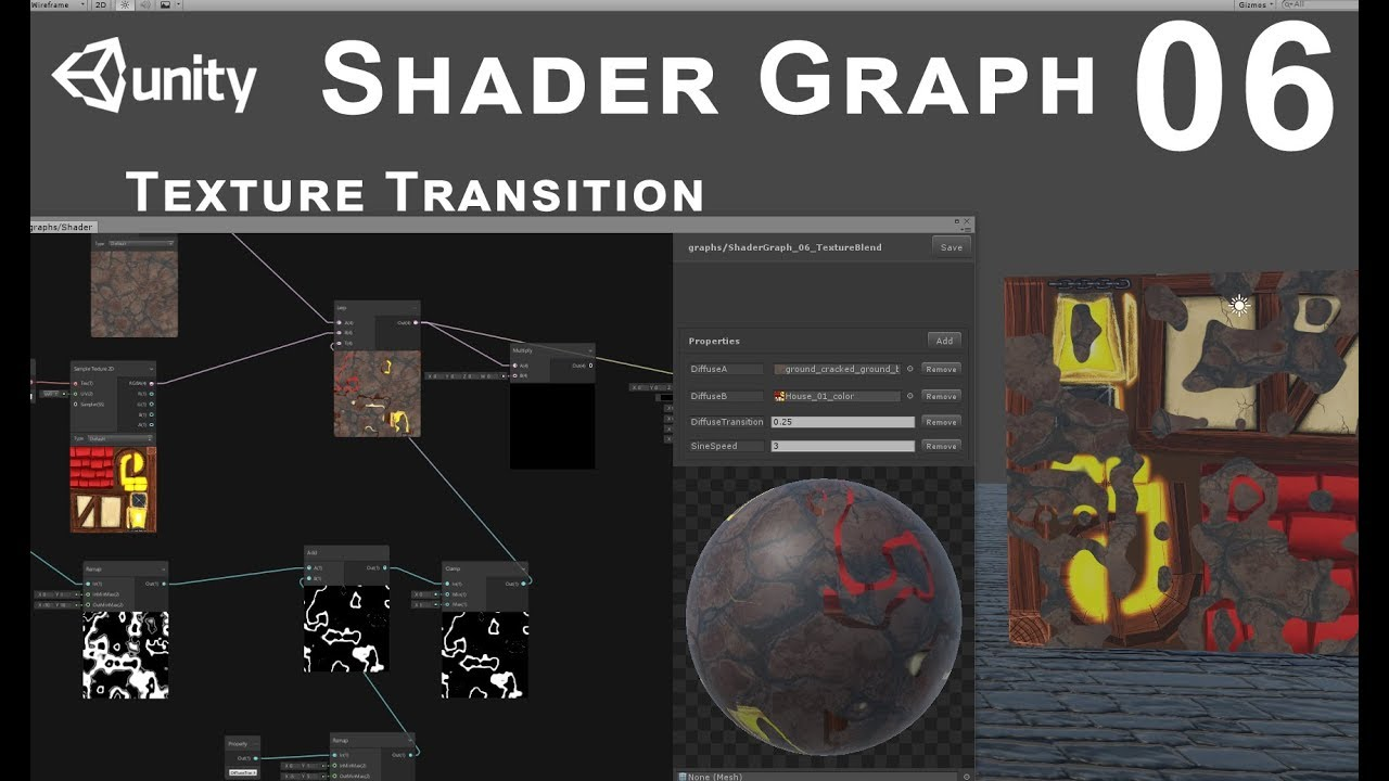 Unity 2018 Shader Graph - Tutorial 06: Texture Transition
