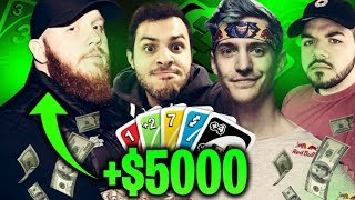 I MADE $5000 PLAYING UNO... NINJASHYPER IS BACK?! UNO W/ NINJA, MARCEL & COURAGE