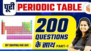 All Competitive Exams | Complete Periodic Table by Shipra Ma'am | 200 Questions (Part-1)