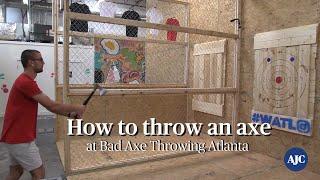 VIDEO: How to throw an axe at Bad Axe Throwing Atlanta