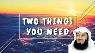 Two Things You Need   Mufti Menk