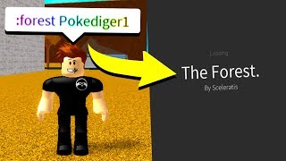 GOING TO THE FOREST WITH ADMIN COMMANDS! (Roblox)