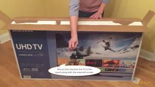 "Samsung 55"" 4K Smart LED Ultra HD TV Unboxing - UN55KU6270FXZA"