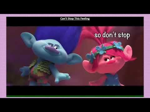TROLLS - Can't Stop this Feeling - with lyrics
