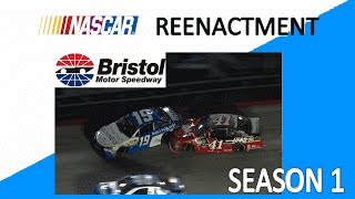 nascar reenactment s1 e3 carl edwards wreck at bristol 2015 stop motion