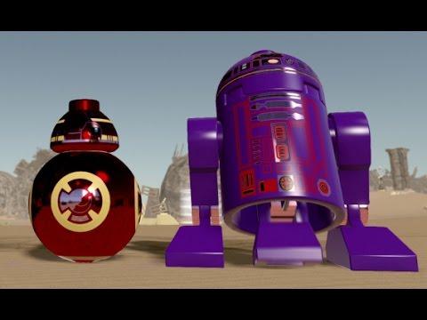 Lego Star Wars The Force Awakens Custom Droids Bb 8 R2 D2
