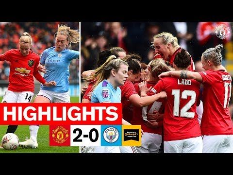 Highlights | United Women 2-0 Manchester City Women | FA Women's Continental League Cup